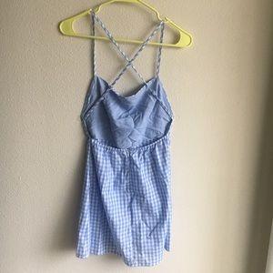 LF open back gingham dress